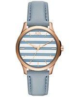 A|X Armani Exchange Women's Blue Leather Strap Watch 36mm AX5238