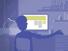 Procrastination - sitting on a computer animation loop GIF animation Gif Animated Images, Loop Gif, Computer Animation, Aesthetic Gif, Gif Pictures, Graphic Design Illustration, Illustration Art, Colorful Drawings, Motion Design
