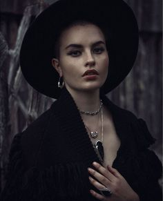 """""""The Pale Storms of Cuba"""" Bona Drag Look Book Spike Necklace, Arrow Necklace, Fall Lookbook, Season Of The Witch, Body Adornment, Fantasy Photography, Pamela Love, Crystal Magic, Mix Style"""