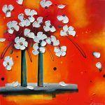 Instant présent par Danielle Champoux  #Art #Artiste #Artist #Artwork #painting #peinture #flowers #fleurs #homedecor Flower Artwork, Symbols, Painting, Colours, Flowers, Canada, Inspiration, How To Paint, Toile
