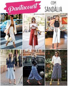 Pantacourt com sandália 30 Outfits, Basic Outfits, Fashion Outfits, Fashion Trends, Urban Fashion, Girl Fashion, Womens Fashion, Fashion Design, Inverted Triangle Outfits