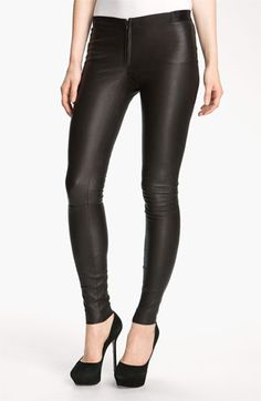 Free shipping and returns on Alice + Olivia Leather Leggings at Nordstrom.com. A zip fly simply styles edgy leather leggings with a shapely silhouette.