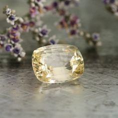 Certified Sapphire Unheated Natural Light Yellow by LaMoreDesign