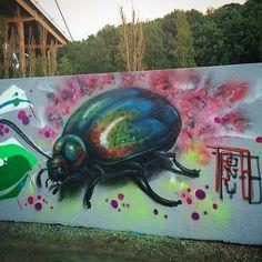 Dagens bugg #bug#insekt#beatle#graffiti#art#rödasten#sweden#art#tonyb