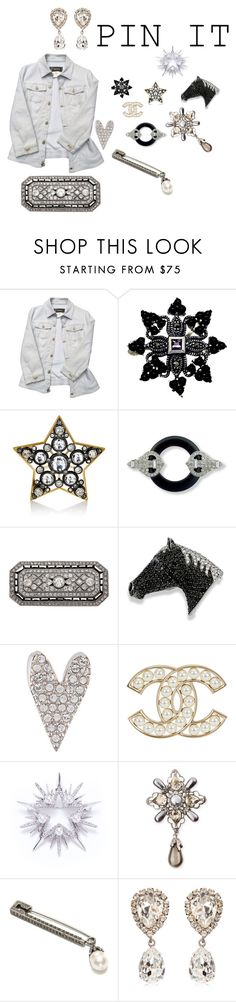 """WHITE DENIM PINNED"" by michelle858 ❤ liked on Polyvore featuring Versace, Goldmajor, Lanvin, Kenneth Jay Lane, Sonia Rykiel, Nadri, Oscar de la Renta, Alexander McQueen, Dolce&Gabbana and pins"