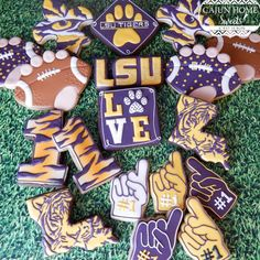 LSU cookies by cajunhomesweets