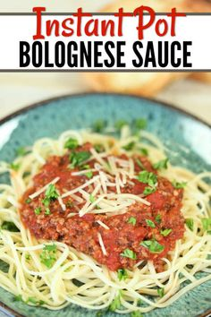 Enjoy Instant Pot Bolognese Sauce Recipe in minutes thanks to this easy recipe. Get dinner on the table in under 20 minutes for a hearty meal. Bolognese Recipe, Bolognese Sauce, What Is Bolognese, Easy Pressure Cooker Recipes, Zucchini Noodle Recipes, Homemade Dinner Rolls, Hearty Meal, Small Meals, Sauce Recipes