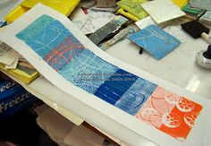 More foam Plate Prints - Linda Germain Overlapping plates on a narrow format??