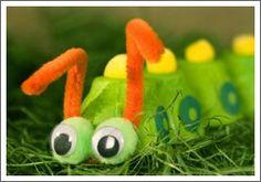 egg carton caterpillar...cute with very hungry caterpillar