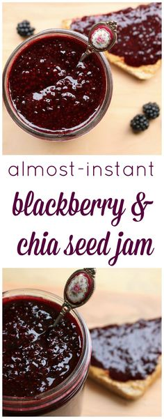 Almost-instant blackberry and chia seed jam is absolutely delicious, costs less then a dollar to make, packed with nutrients, refined sugar-free and eliminates the need for large-batch, high-heat canning methods or pectin!
