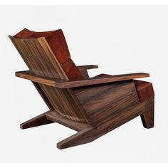 "Robust and ultra comfortable Carlos Motta's ""Santa Rita"" armchair is handcrafted from reclaimed Peroba Rosa wood."