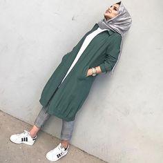 # hijab it is # Tesettür Hijab Casual, Hijab Chic, Modern Hijab Fashion, Abaya Fashion, Muslim Fashion, Fashion Dresses, Modest Fashion, Trendy Fashion, Hijab Style Dress