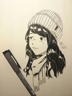 Fashion fineliner artwork by ramonkrysteck. I loved to draw the hat.