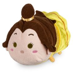 Belle has had a cute update with our Tsum Tsum medium soft toy. Colourful and stackable, this concept from Japan offers a quirky version of the Beauty and the Beast character, with 3D details and a squeezy bean bag tummy.
