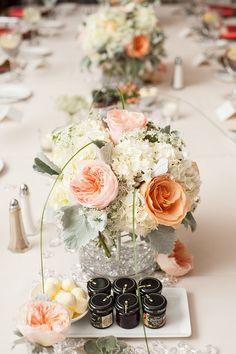 Wedding Flowers | Bridal Bouquets | Centerpieces | Flowers  #gardenrose #succulent #queenanneslace #DahlgrenChapel