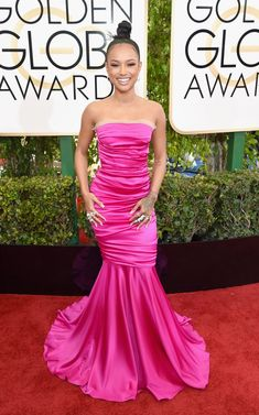 Golden Globes Fashion From the Red Carpet - Karrueche Tran Oscar Fashion, Fashion 2017, Karrueche Tran, Celebrity Look, Celebrity Dresses, Red Carpet Dresses, Golden Globes, Hollywood Celebrities, Red Carpet Looks