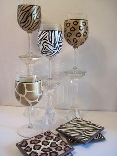 Kudos Kitchen By Renee: My Painted Glassware Portfolio