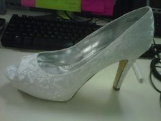 My satin LEOPARD print wedding shoes!! LOVE them!   Weddingbee Photo Gallery