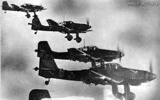 El Ju 87B podía transportar una bomba de 1.000 kg pero sin ametralladora trasera y para vuelos cortos