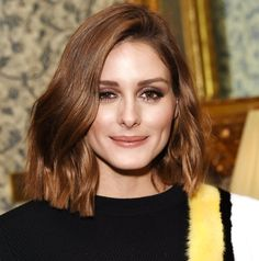 Olivia Palermo is known for her sun-kissed highlights, but the start updated her hair color for the winter season by taking her color a few shades darker. See the celeb's new brown lob hairstyle here. Top 10 Haircuts, Cool Haircuts, Wavy Bob Hairstyles, Lob Hairstyle, Formal Hairstyles, Wedding Hairstyles, Bob Balayage, Olivia Palermo Hair, Haircuts For Round Face Shape