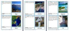 Nomenclature delle forme dell'acqua (idrosfera)