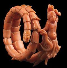 Victorian Jewelry, Antique Jewelry, Vintage Jewelry, Snake Jewelry, Coral Jewelry, Coral Art, Red Coral, Cameo Jewelry, Jewellery