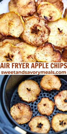 Air Fryer Apple Chips are a crispy, delicious, and healthy snack for munching on any time of the day or night. #snack #healthy #airfryer #applechips #apple #sweetandsavorymeals Lunch Snacks, Savory Snacks, Healthy Snacks, Appetizer Recipes, Snack Recipes, Dessert Recipes, Desserts, Amazing Recipes, Delicious Recipes