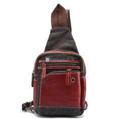 0e23ed7e6f2  55.99 Mens Shoulder Sling Bag Canvas Sling Bag Bags For Teens, Shoulder  Bags For School