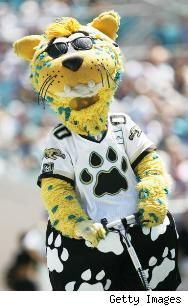 """mascot in the league Jaxson De Ville, Jacksonville Jaguars.hope someone will step up to fill his """"shoes""""! Jaguars Football, Nfl Football Teams, Watch Football, Football Baby, Football Season, Football Stuff, Team Mascots, Football Conference, Jacksonville Florida"""