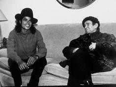 Michael com o russo Nureyev - um dos mais celebrados dançarinos do século XX