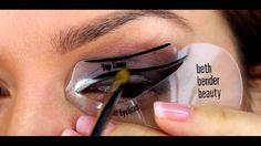 Beth Bender Beauty stencil. Easy WINGED Eyeliner Tutorial Using Eyeliner Stencils - YouTube Makeup App, Emo Makeup, Daily Makeup, Asian Makeup, Beauty Makeup, Makeup Ideas, Eyeliner Stencil, Winged Eyeliner Tutorial, Korean Makeup Tutorials