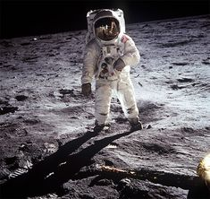 Neil Armstrong, photo taken by Buzz Aldrin.  Apollo 11, 1969.  http://www.wired.com/science/space/news/2008/07/nasa_mainbar?currentPage=all