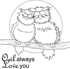 owl always love you coloring for kids - Download & Print Online ...