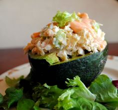 Avocado Stuffed With Crab