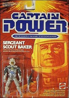 """Captain Power and the Soldiers of the Future 3 3/4"""" Action Figures Sgt. Scout Baker by Mattel"""