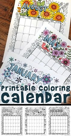 Get our free printable 2018 coloring calendar for kids and adults!