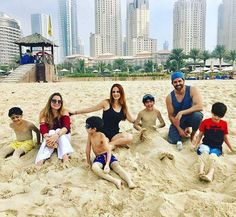 #OhFresh! - #HrithikRoshan with his kids #Hrehaan and #Hridhaan and ex-wife #SussanneKhan having a great day at the beach in Dubai!  #celebrity #bollywood #bollywoodactress #bollywoodactor #actor #actress #filmywave
