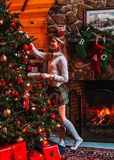 Cute Christmas Pajamas, Preppy Christmas, Christmas Mood, Noel Christmas, Merry Little Christmas, Christmas Sweaters, Christmas Outfits, Christmas Morning Outfit, Preppy Winter