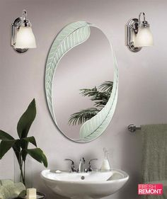 Our designers has just released the best Amazing Home design. If you are curious to know, feel free to click the link bellow and you will know how to modify your Home. Read more about Best Bathroom Mirror Design Ideas! Bathroom Mirror Makeover, Bathroom Mirror Design, Diy Vanity Mirror, Bathroom Wall, Bathroom Ideas, Oval Mirror, Bathroom Modern, White Bathroom, Bathroom Designs