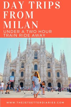 DAY TRIPS FROM MILAN UNDER A TWO HOUR TRAIN RIDE AWAY Milan is a great base for visiting the beautiful lakes and neighboring regions in Italy and Switzerland. Hop on a short train ride to enjoy amazing day trips at one of these cities that are reachable in under 2 hours: Verona, Italy Travel time from Milan: 1hr 30min The medieval city of Verona is best known for being the setting of Shakespeare's Romeo and Juliet.