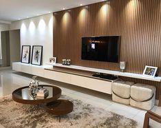 Modern tv wall ideas - Home Theater Living Room Wall Units, Living Room Tv Unit Designs, Ikea Living Room, Living Room Interior, Luxury Bedroom Design, Home Room Design, House Design, Modern Tv Wall, Modern Living