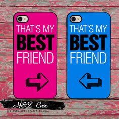 BFF Best Friends Twin Set Pink and Blue Phone Cases for iPhone 6 6 plus 5c 5s 5 4 4s Case Cover