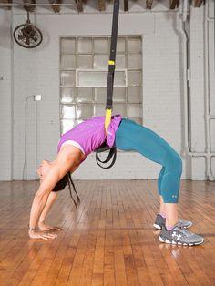 11 Surprising Ways to Use TRX for Yoga - TRX Suspension Trainer Workouts - Trx Yoga, Bikram Yoga, Kundalini Yoga, Vinyasa Yoga, Yoga Exercises, Yoga Workouts, Ashtanga Yoga, Pilates Training, Pilates Workout