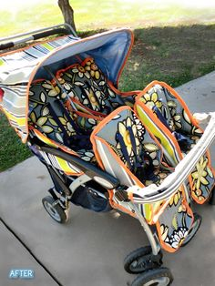 pimp your ride!  recover an old stroller to make it updated and super stylin'