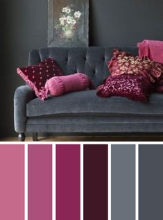 Raspberry and grey color inspiration