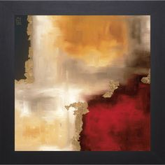 Laurie Maitland 'Crimson Accent l' Framed Artwork