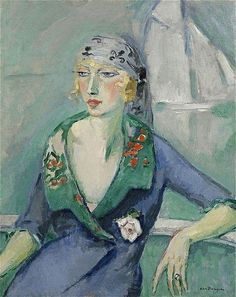 Kees van Dongen「Woman with Scarf」(1921)