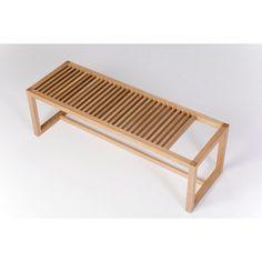 Finished slatted bench  Jason Klager Furniture