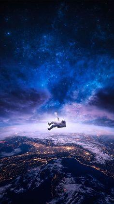 Falling Astronaut IPhone Wallpaper - IPhone Wallpapers
