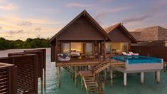 A romantic honeymoon retreat - the Ocean Villa with Pool at Hideaway Beach Resort & Spa - these luxury Pool Villas in Maldives offer exclusivity and privacy